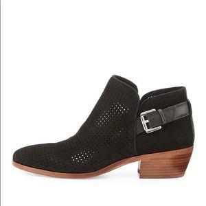SAM EDELMAN black perforated ankle booties sz 10